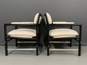 Edward Wormley Pair of Outstanding Armchairs for Dunbar