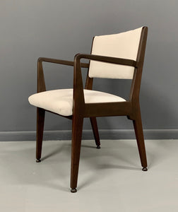 Jens Risom Walnut Armchair from 1950s