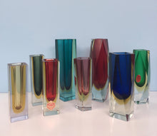 Load image into Gallery viewer, Murano Glass Sommerso Vases