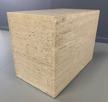 Load image into Gallery viewer, Italian Travertine Side Table Mid-century