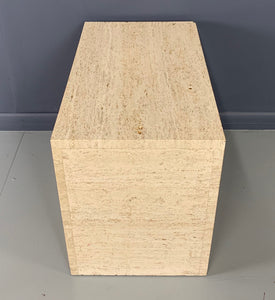 Italian Travertine Side Table Mid-century