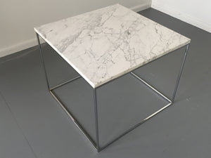 Milo Baughman for Thayer Coggin Chrome and Marble Ocassional Tables Mid Century