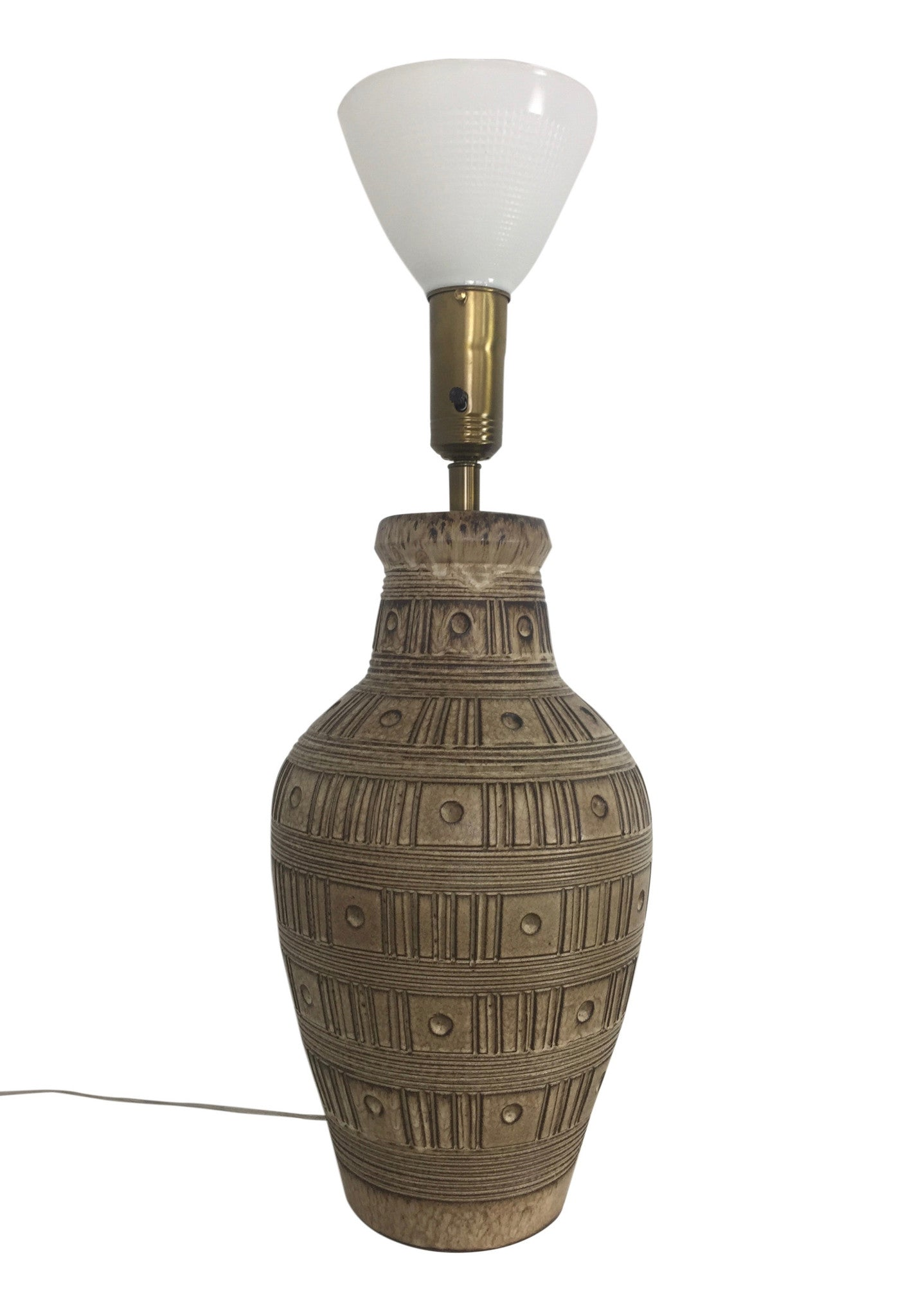 Design Technics Incised Ceramic Table Lamp