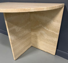 Load image into Gallery viewer, Demilune Travertine Midcentury Console Table
