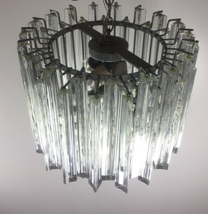 Venini Italian Crystal Murano Glass Chandelier