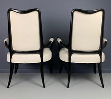 Load image into Gallery viewer, Italian Ebonized Sculptural Pair of Armchairs in the Style of Osvaldo Borsani