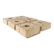 Load image into Gallery viewer, Mangiarotti style Travertine Six Candle Holder
