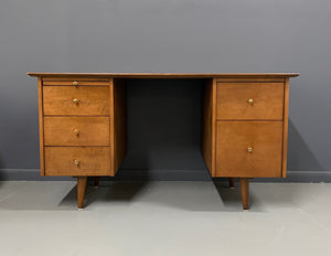 Double Pedestal Planner Group Desk by Paul McCobb