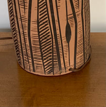 Load image into Gallery viewer, Lee Rosen for Design-Technics Terracotta Lamp with Incised Black Design