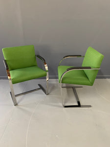 Brno Armchair Pair with Chrome Frame, Knoll A Mid Century Masterpiece