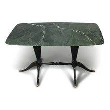 Load image into Gallery viewer, Italian Design Paolo Buffa Low Table with Marble Top for Fratelli Cassina