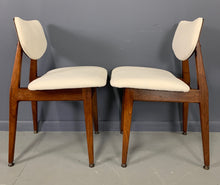 Load image into Gallery viewer, Jens Risom Mid Century Walnut Dining Chairs, a Set of Six