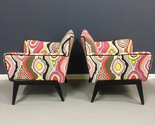 Load image into Gallery viewer, Italian Mid Century Pair of Lounge Chairs in the Style of Ico Parisi
