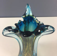 Load image into Gallery viewer, Murano Seguso Multi Colored Glass Vase Midcentury