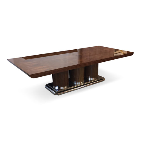 "Brueton ""Athens"" Collection Dining or Conference Table In Exotic Mentose Wood"