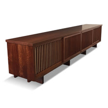 Load image into Gallery viewer, George Nakashima Rare Four Door Pandanus Cabinet in Walnut and Teak Mid Century