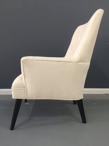 Mid Century Lounge Chair in The Style of Gio Ponti in Textured Velvet