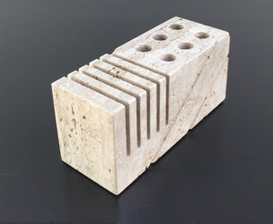 Fratelli Mannelli Travertine letter holder