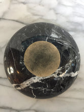 Load image into Gallery viewer, Round Black and White Veined Italian Marble Bowl