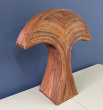 Load image into Gallery viewer, Gabriella Crespi Style Table Lamp in Reed with Double Socket Mid Century