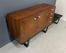 Load image into Gallery viewer, George Nelson Rosewood Thin Edge Cabinet on Original Slat Bench Mid-Century