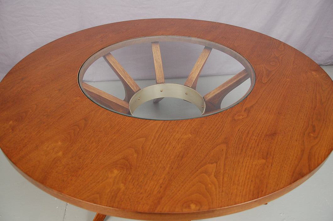 Brasilia Cathedral Walnut Coffee Table by Broyhill