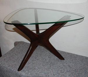"Adrian Pearsall ""Jacks"" Walnut Side Table"