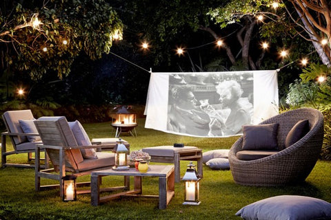 outdoor garden projector cinema