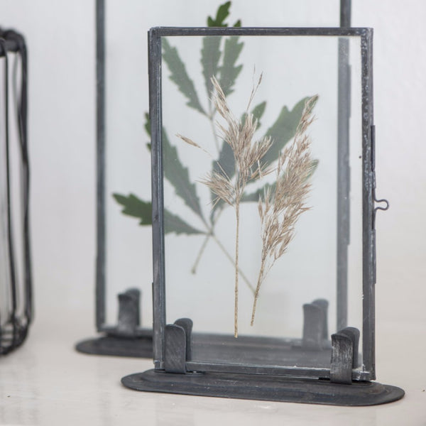 Small Metal Photo Frame with Stand-Photo Frames-The Little House Shop