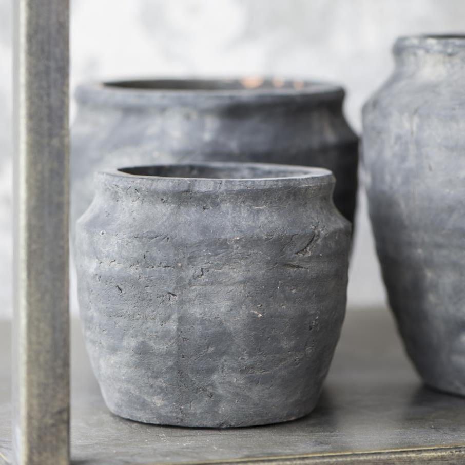 Athens Grooved Clay Pot-plant pots-The Little House Shop
