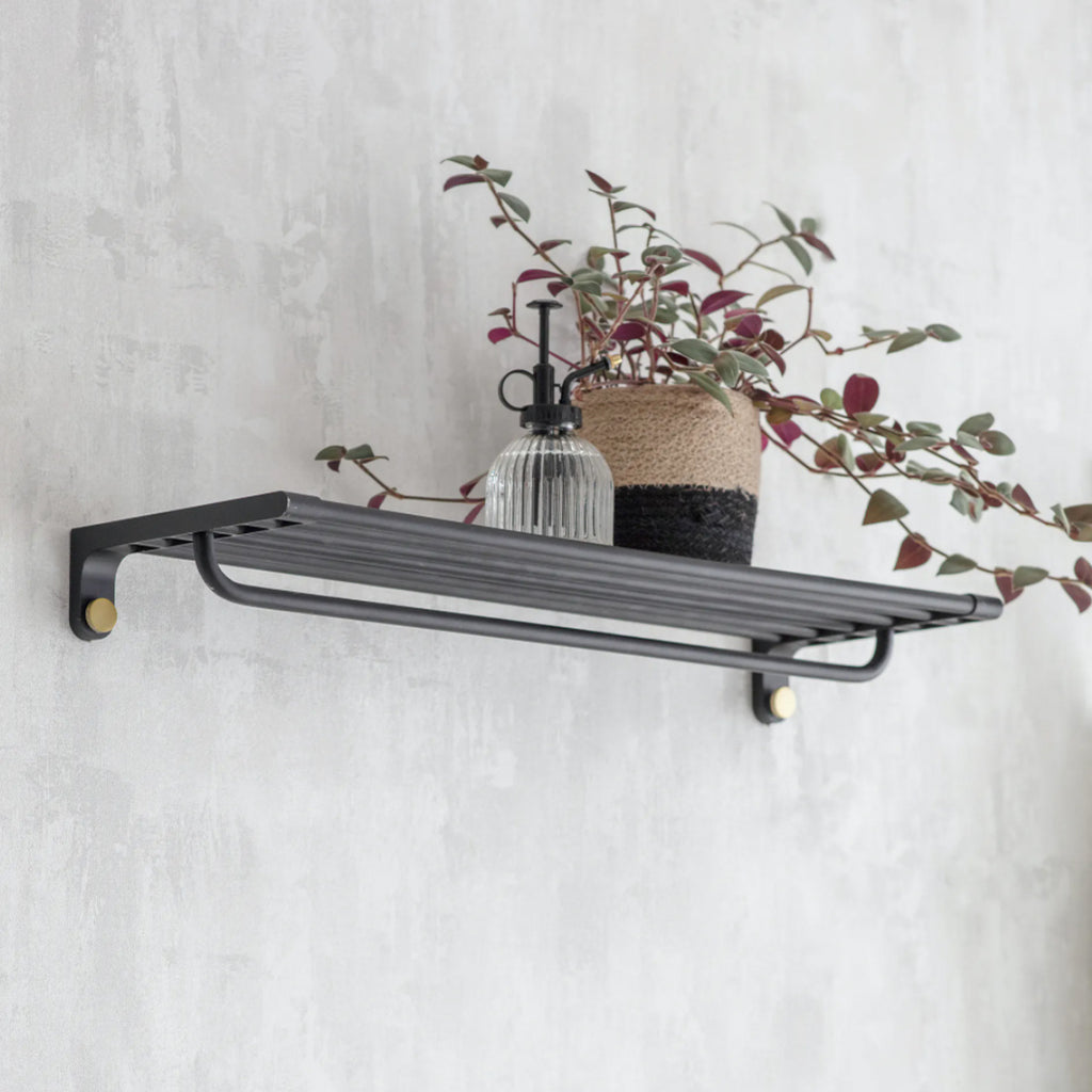 Adelphi Wall Shelf in Black - Steel