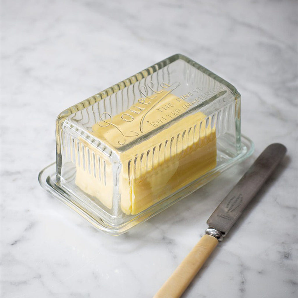Glass Louella Butter Dish-Butter Dish-The Little House Shop