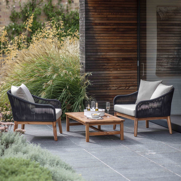 Polyrope Luccombe Armchair Set-outdoor furniture-The Little House Shop