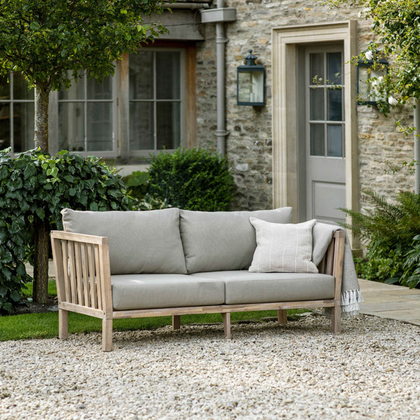 Wooden Porthallow Outdoor 2 Seater Sofa-garden furniture-The Little House Shop