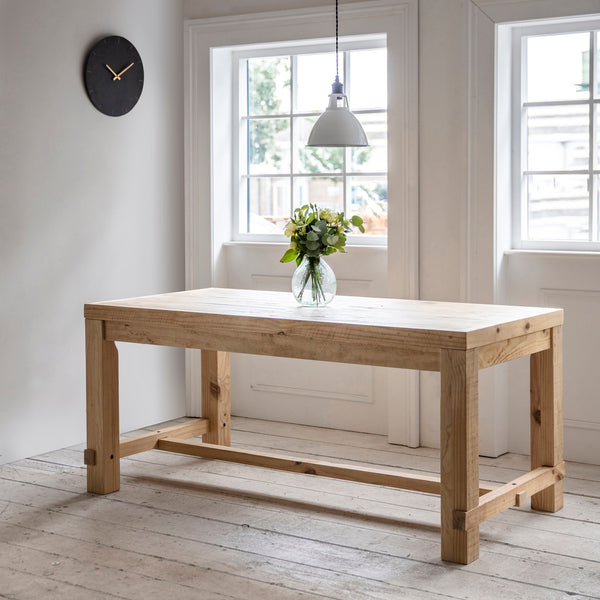 Chunky Rustic Raw Pine Table-Dining Table-The Little House Shop