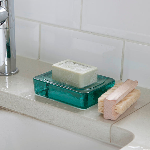 Recycled Glass Soap Dish-Soap Dish-The Little House Shop