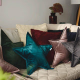 Velvet Star Cushion-cushion-The Little House Shop