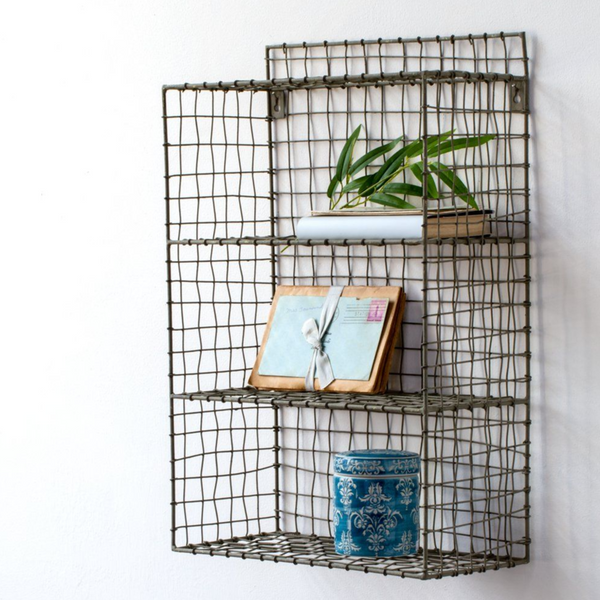 Small Wire Shelf Unit-shelf-The Little House Shop