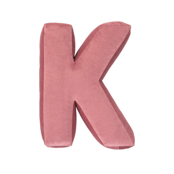BETTYS HOME Velvet Letter K Cushion