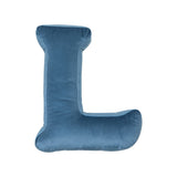 Velvet Letter L Cushion - Handmade To Order