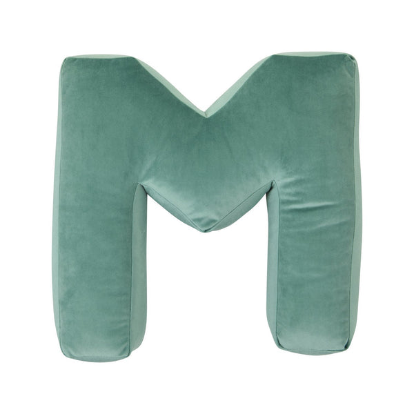 Velvet Letter M Cushion - Handmade To Order
