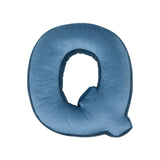 Velvet Letter Q Cushion - Handmade To Order