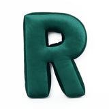 Velvet Letter R Cushion - Handmade To Order