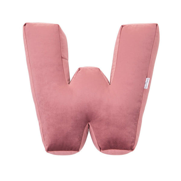 Velvet Letter W Cushion - Handmade To Order