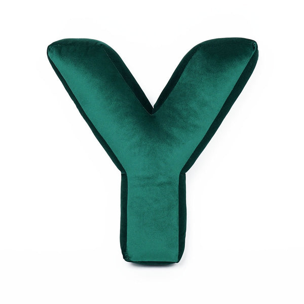 Velvet Letter Y Cushion - Handmade To Order
