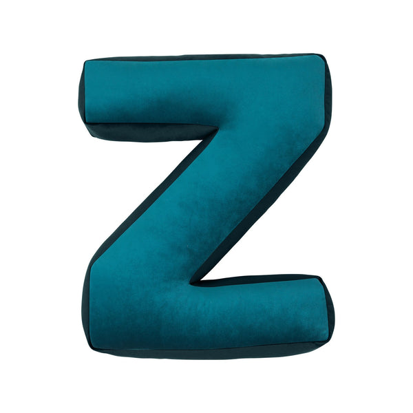 Velvet Letter Z Cushion - Handmade To Order