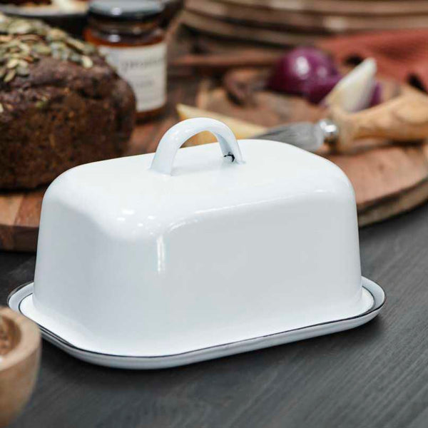Traditional Enamel Butter Dish