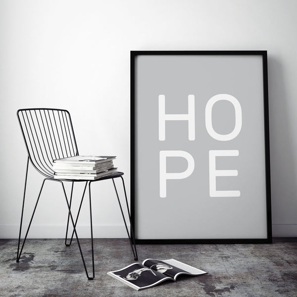 Hope Stacked Typographic Print
