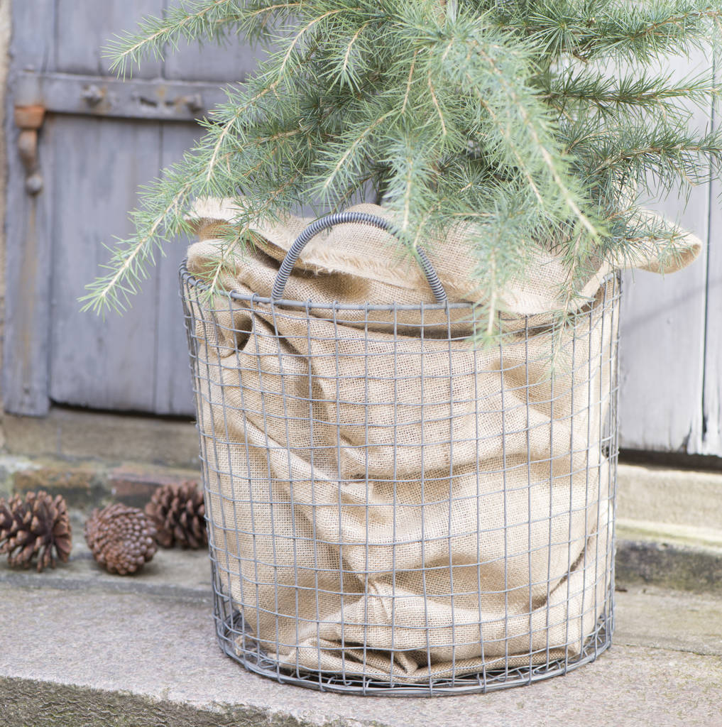 Traditional Large Jute Sack-Christmas Decoration-The Little House Shop