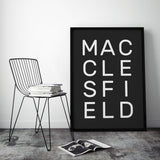 Stacked Personalised Typographic Place Print
